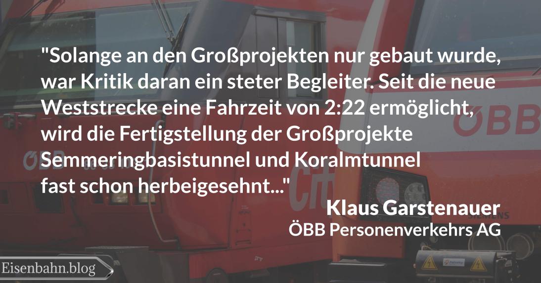 Zitat von Klaus Garstenauer zur Südstrecke