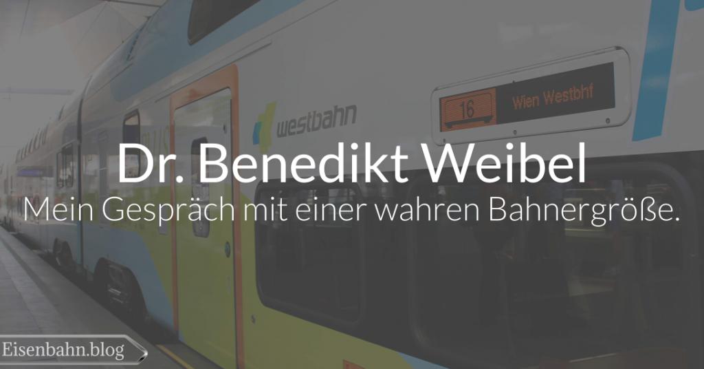 Dr. Benedikt Weibel – mein Gespräch mit einer wahren Bahnergröße.